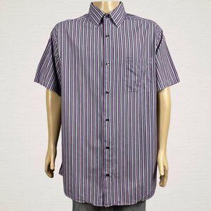 Claiborne Concepts Stripe Button Up Shirt 2XLT